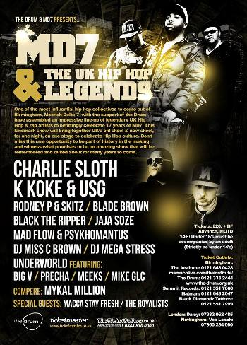 MD7 & UK HIPHOP LEGENDS 350